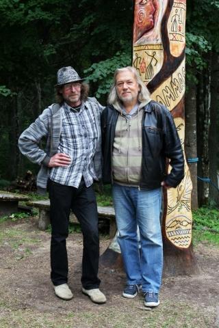 Olev Russ ja Tõnis Mägi Ilmasamba juures 2012 suvel